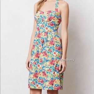 anthropologie girl from savoy garden party dress